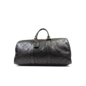 Chanel Extra Large Quilted Lambskin Boston Duffle